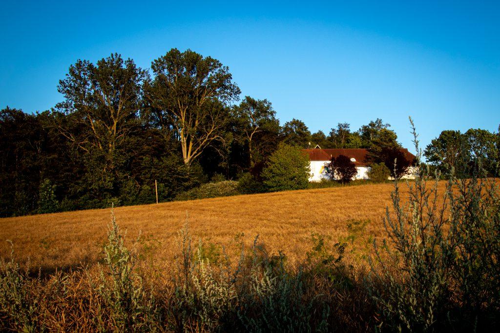 Jugendherberge Barth - Lage der Herberge inmitten von Feldern