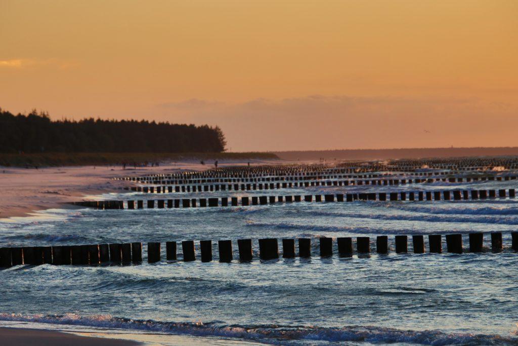 Ostsee - Sonnenuntergang in Zingst am Strand