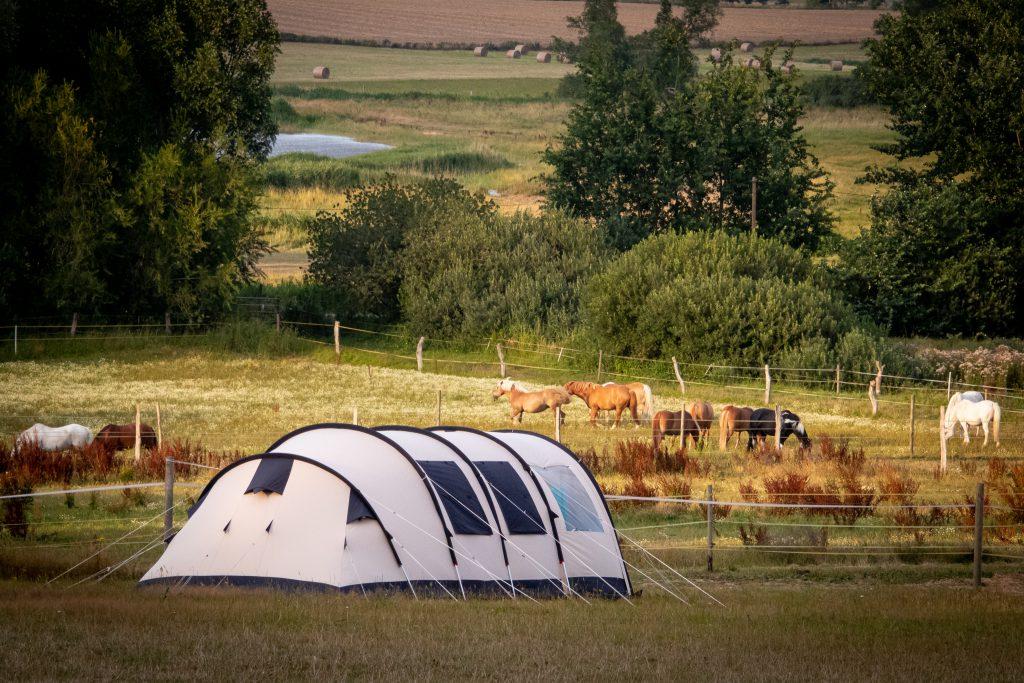Jugendherberge Barth - Zelten - Unser Zelt, ein Obelink Familia 4