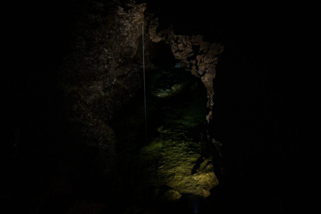 Kluterthöhle in Ennepetal - Höhlensee in der Höhle