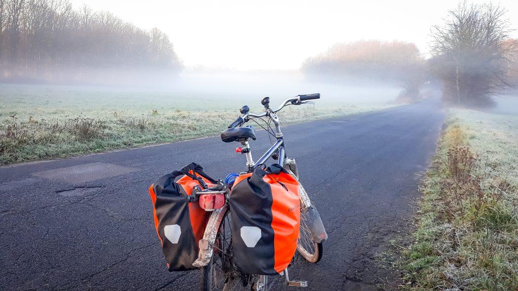 Fahrradfahren als Fahrradpendler im Winter